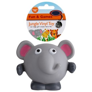 Jungle Vinyl Dog Toy - Elephant