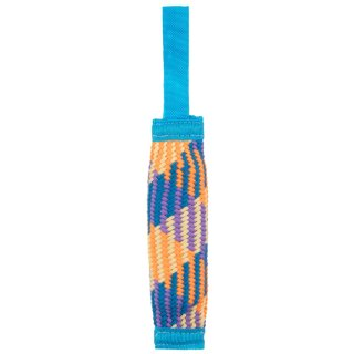 Rainbow Tube Dog Toy - Blue