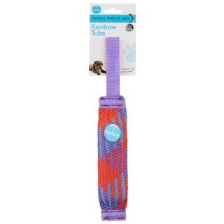 Rainbow Tube Dog Toy - Purple