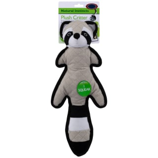 Plush Critter Dog Toy - Raccoon