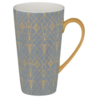 Art Deco Latte Mug - Charcoal