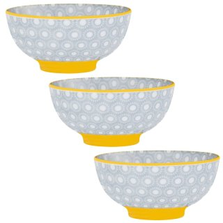 Small Moroccan Style Bowls 3pk - Ochre