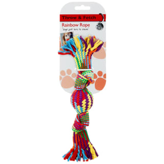Rainbow Rope Dog Toy - Knot