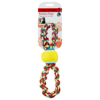Rainbow Rope Dog Toy - Tug Ball