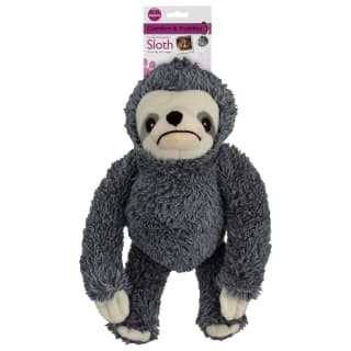 Sloth Dog Toy - Grey