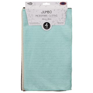 Jumbo Microfibre Cloths 4pk - Blue