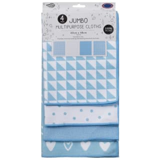 Jumbo Multipurpose Cloths 4pk - Blue
