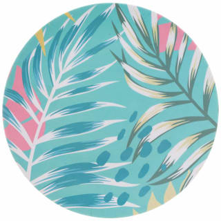 Tropical Bamboo Picnic Plate 10""