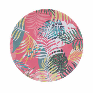 Tropical Bamboo Picnic Plate 8""