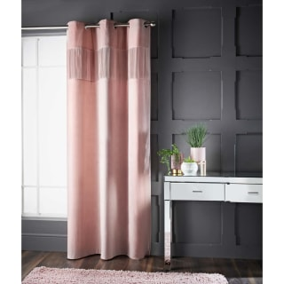 Pleated Velvet Thermal Lined Panel - Blush