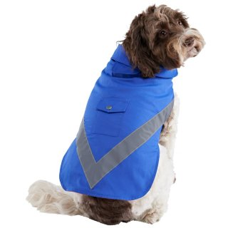 Dog Reflective Raincoat - Blue