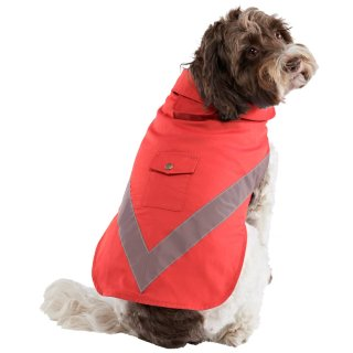 Dog Reflective Raincoat - Red