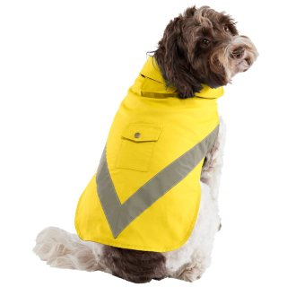 Dog Reflective Raincoat - Yellow