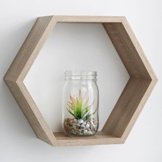 Lokken Hexagonal Shelf - Oak
