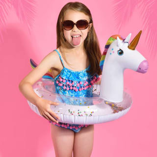 Kids Inflatable Unicorn Swim Ring