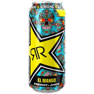 Rockstar El Mango Energy + Juice Drink 500ml