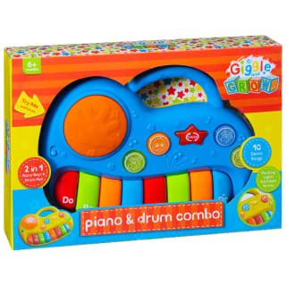 Giggle & Grow Piano & Drum Combo - Blue