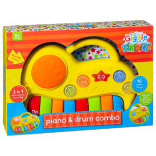Giggle & Grow Piano & Drum Combo - Yellow