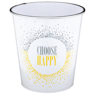 Slogan Waste Bin - Choose Happy
