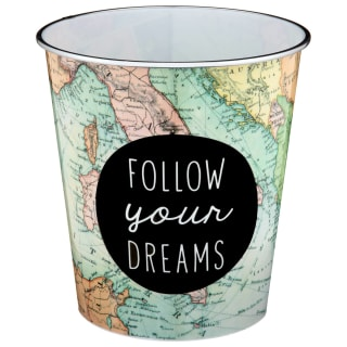 Slogan Waste Bin - Follow Your Dreams
