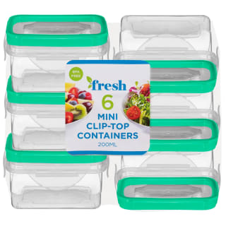 Square Mini Clip Top Containers 6pk - Green