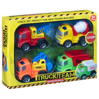 Truck Team Construction Vehicles 4pk