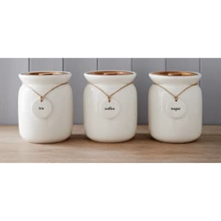Kitchen Canisters with Wooden Lid - Charm