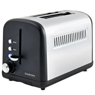 Goodmans 2 Slice Wide Slot Stainless Steel Toaster - Matt Black