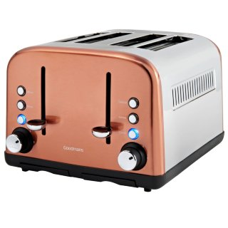 Goodmans 4 Slice Wide Slot Stainless Steel Toaster - Copper