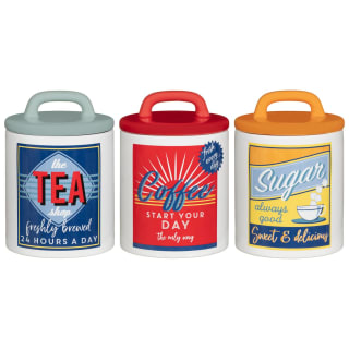 Retro Canister Set 3pc