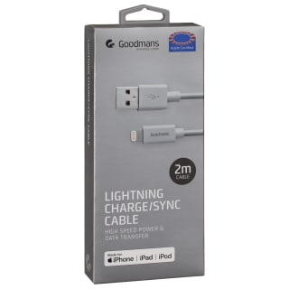 Goodmans Lightning Charge/Sync Cable 1m - Grey