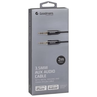 Goodmans Aux Cable 2m - Black