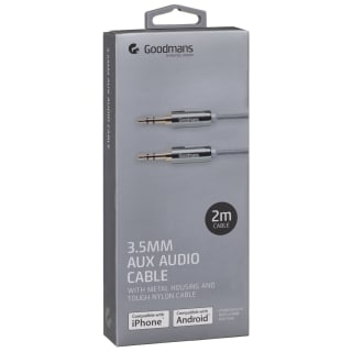 Goodmans Aux Cable 2m - Grey