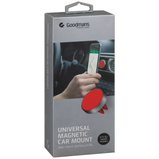 Goodmans Universal Magnetic Phone Car Mount - Red
