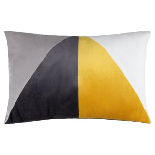 Velvet Geo Cushion - Ochre
