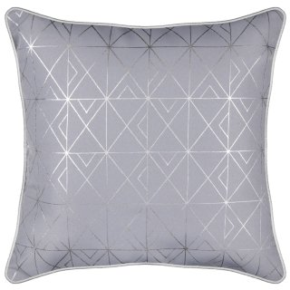 Silver Foil Canvas Cushion 40 x 40cm