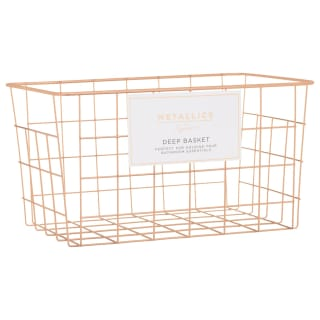 Metallics Deep Storage Basket