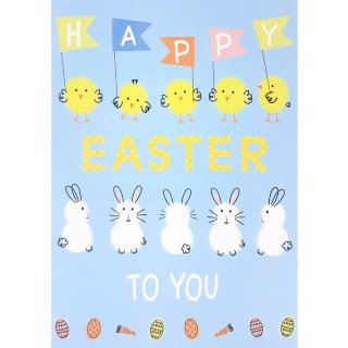 Chicks & Bunnies - Easter Card