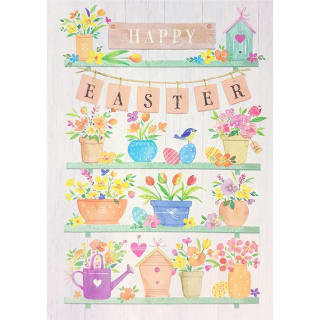 Plant Pots - Easter Card