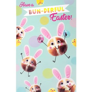 Hot Cross Bun - Easter Card