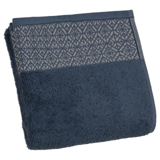 Nordic Border Design Hand Towel - Navy