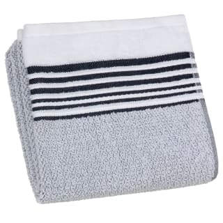 Nordic Border Stripe Hand Towel - White