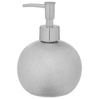 Textured Rounded Soap Dispenser - Silver