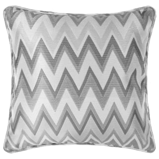 Coco Chevron Cushion - Grey