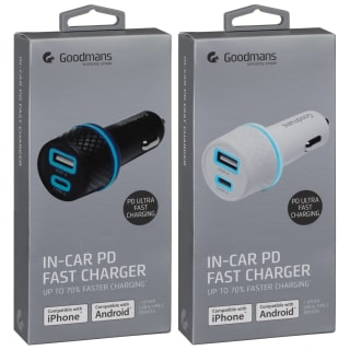 Goodmans In-Car PD Fast Charger - Black