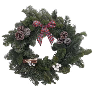 "Real Advent Wreath 12"" - Red Ribbon"
