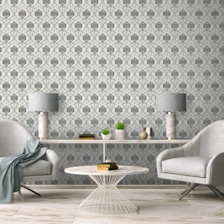 Duplex Damask Grey Wallpaper