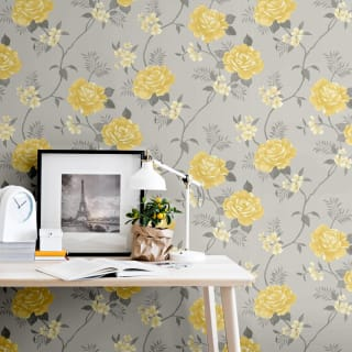 Rosalind Grey & Ochre Wallpaper