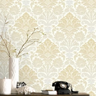 Ornamental Damask Yellow Wallpaper