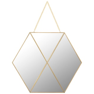 Hanging Hexagon Mirror